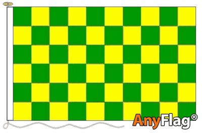 - GREEN AND YELLOW CHECK ANYFLAG RANGE - VARIOUS SIZES